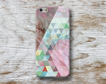 hOt -- Triangles Pink Wood print Phone Case for iPhone 4 4s 5 5s SE 5C 6 6S 7 8 PLUS X iPod Touch 5 6 Oneplus 2 3 5 1+2 1+3 1+5