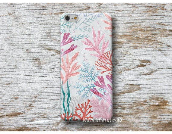 coral sea Phone Case Cover Skin for iPhone X XS MAX XR 8 7 6s 6 Plus se 5s  5 5C 4 4s iPod 5 6 cases