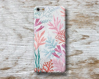 """Seaweed Coral sea Phone Case for Samsung Galaxy S9 S8 S7 S6 S5 S4 Edge Plus Note 8 4 J7 J5 J3 A5 A3... """"Designed by A.Miró Barcelona"""""""