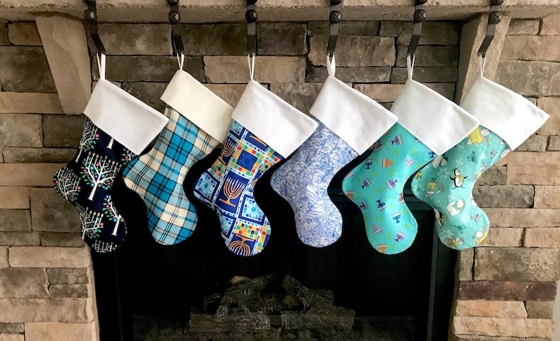 Hanukkah Christmas Stocking.Set Of 6 Personalized Hanukkah Stockings Chanukah Stockings Set Hanukkah Stocking Blue Stockings Hanukkah Stockings Hanukkah Stocking