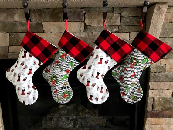 083528b95 Christmas Stocking. Personalized Christmas Stockings. Set of 4