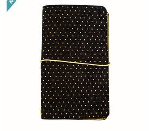Large Black with Gold Dots Journal By Recollections™