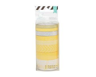 Heidi Swapp Washi Tape Tube, Yellow
