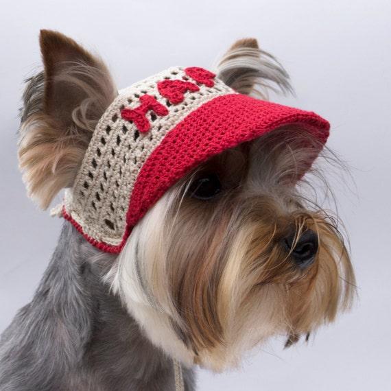 Cap de chien avec texte   casquette pour chien visière   Etsy 25b48e7afc87