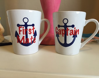 Captain/First Mate coffee mugs