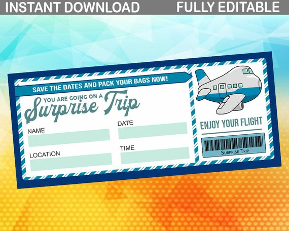 image regarding Printable Boarding Pass referred to as Printable Ticket Boarding P Question Holiday vacation Wonderful Toward Wonder Enjoyed Birthday Ponder Printable Boarding P Editable PDF Editable Boarding