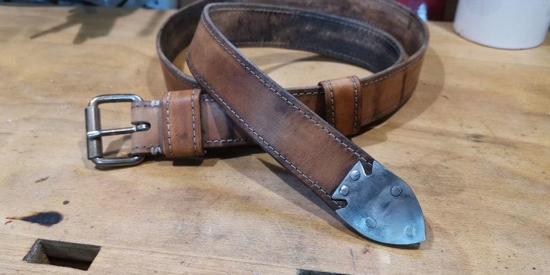 waxed leather belt image 0