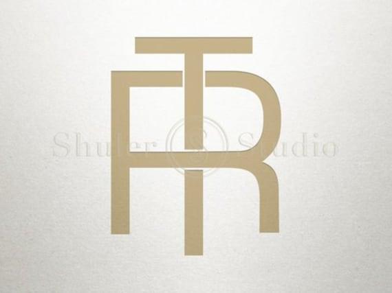 Monogram Logo Design Rt Tr Monogram Logo Digital Etsy