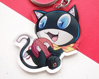 """Morgana 2.5"""" Double-sided Acrylic Keychain Charm / Persona 5"""
