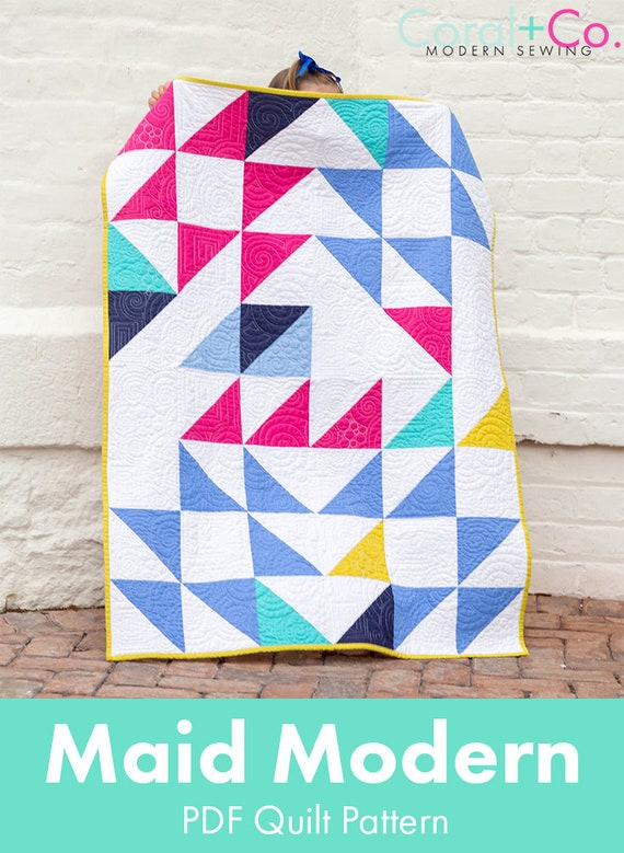 Maid Modern Quilt Pattern Pdf Download Sewing For Beginners Etsy