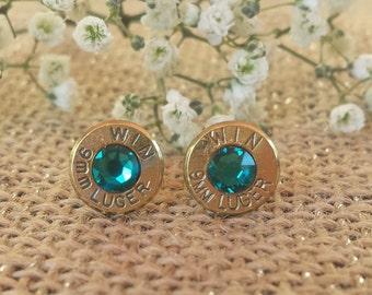 Ocean Getaway 9mm Winchester Bullet Stud Earrings