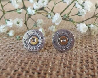 Original (No Gems) CCI 9mm Bullet Stud Earrings
