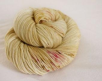 Cranberry Scones - Magpie -  75/20/5 superwash merino/ nylon/ gold stellina sock yarn