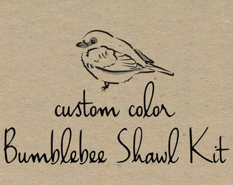 Bumblebee Shawl Kit Preorder- Custom Color Combination