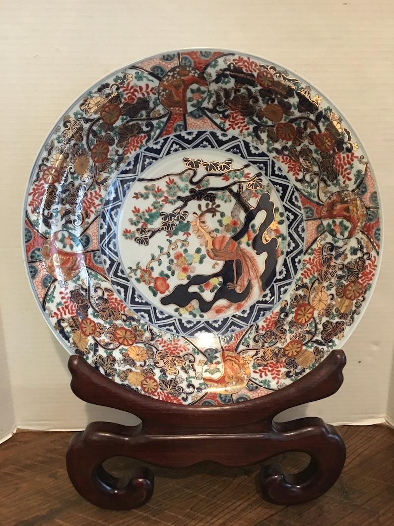 Chinese Hand Painted Half Bowl Imari Style