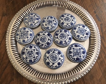 Vintage Chinese Porcelain Medallions