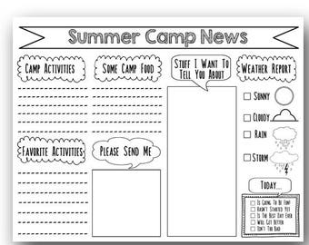 graphic about Printable Fill in the Blank Camp Letters identify Stationary letter Etsy