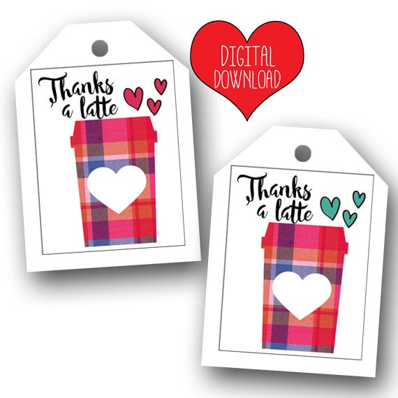 image about Cute Gift Tags Printable called Adorable Due a Latte Printable Tags / Printable Owing a Latte Reward Tags / Trainer Appreciation / Thank Yourself Instructor / PDF Record