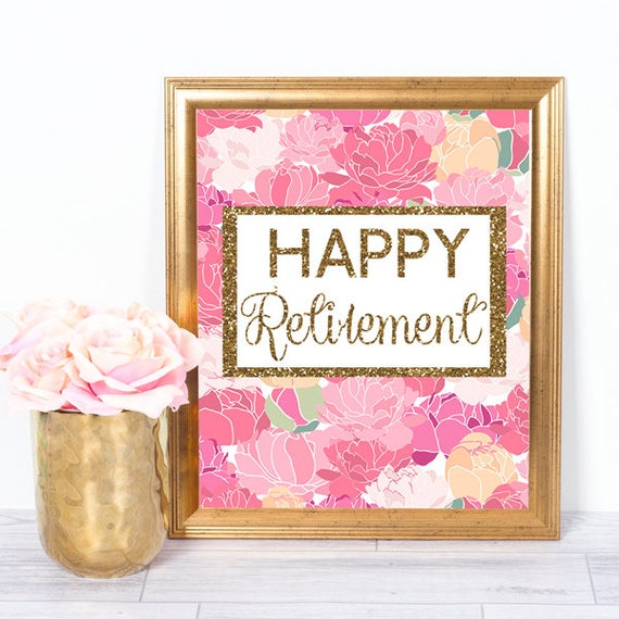 items similar to retirement printable sign