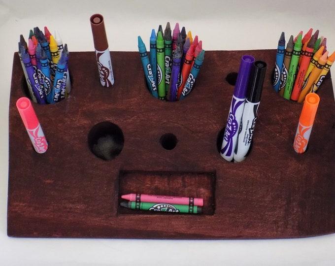 Desk Caddies for Vape Pens, Pens, Pencils, Makeup, Vape Cartridges, Lip Balm, E-Cigs, CBD Vape Pens, Desk Caddy, Desk Storage, Wood Caddy
