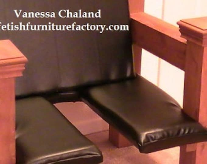 Mature: Bondage Sex Chair. BDSM Furniture for FemDom. Queening Chair, Smother Box, Queening Throne, Face Sitting Chair, Rimming Chair, DIY