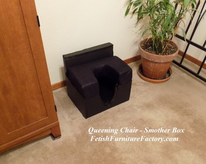 Mature: Smother Box for Oral Sex. Queening Chair. Sex Toys. BDSM Toys. Dungeon Toys, Femdom Rim Seat. Queening Stool, Facesitting Chair, DIY