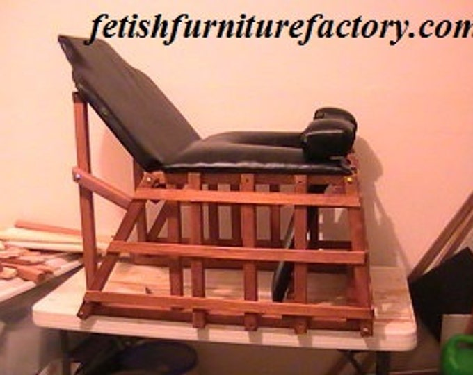 Mature: Face Sitting Queening Chair for Oral Sex. Dominatrix Queening. BDSM Toy, Dungeon, Sex Chair, Dungeon, Do It Yourself Instructions.