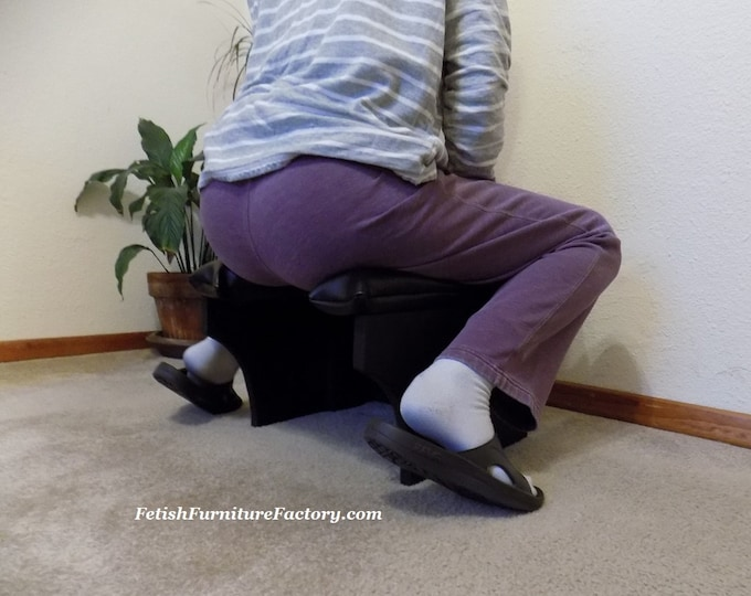Mature: Queening Stool. Smothering chair for Oral Sex. Sex Furniture, Rim Seat. FemDom Face Sitting. Dungeon. BDSM. Dominatrix. Sex Toys.
