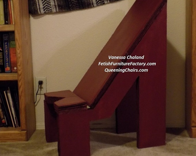 Mature: Face Sitting Chair Oral Sex. FemDom Queening Chair. Rim Seat, LGBTQIA, Domination, Dungeon, Sex Toys, Do It Yourself Instructions.