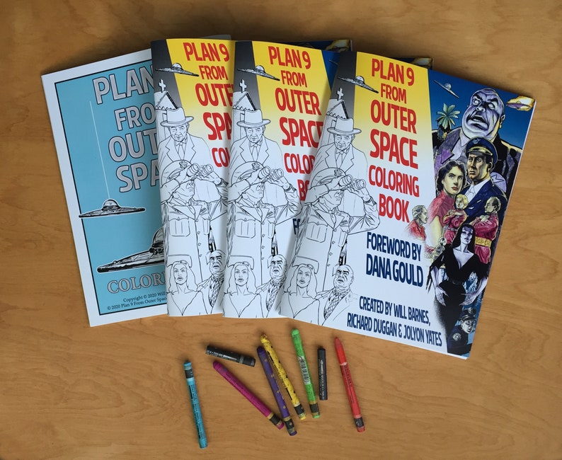 Plan 9 From Outer Space Coloring Book  Coloring Book for image 0