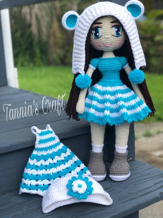 Doll dress tutorial Dress up tutorial amigurumi pdf Dress knit ... | 760x570