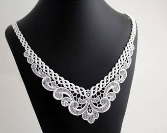 Swiss embroidery: white Lace Appliques