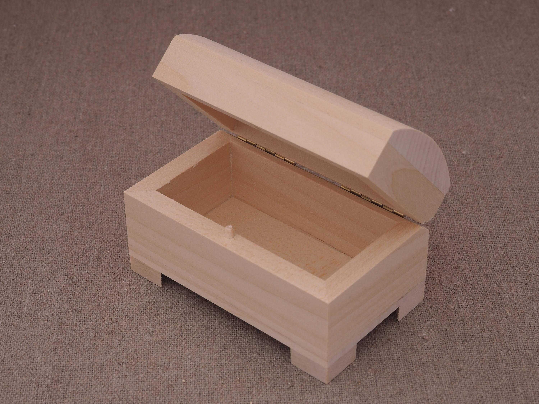 Unfinished Wood Box Small Wooden Box Jewelry Box Treasure