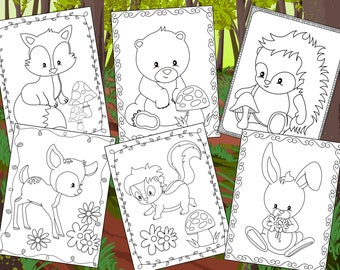 Woodland Friends Coloring Pages