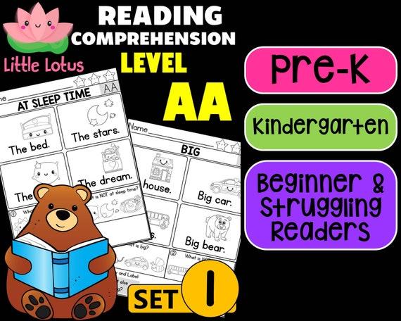 Pre-K Kindergarten First Grade Little Lotus Reading Etsy