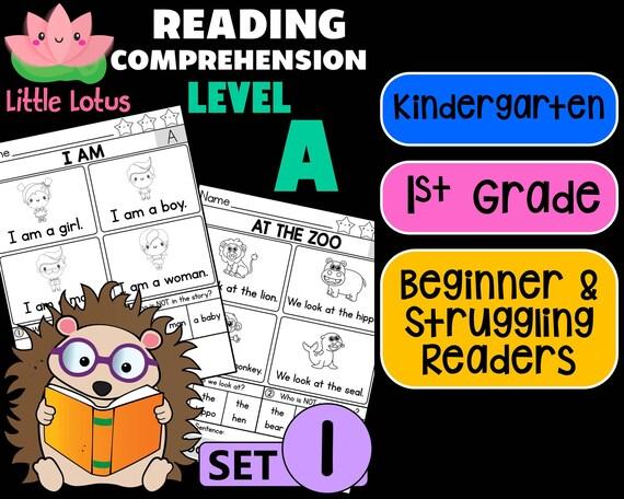 Kindergarten First Grade Little Lotus Reading Etsy