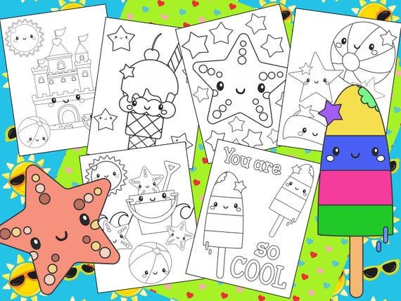 Summer Beach and Birthday Coloring Pages  The Crayon Crowd