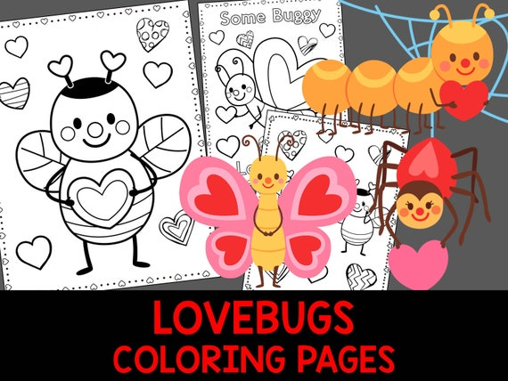 Love Bugs Coloring Book Pages  The Crayon Crowd printable