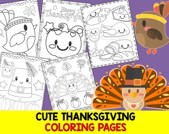 Cute Thanksgiving Coloring Pages - The Crayon Crowd, printable, party, party favors, Coloring book, Sheets, kids, pdf, fall, turkey, autumn