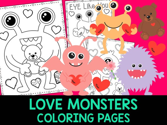 Love Monsters Coloring Book Pages  The Crayon Crowd