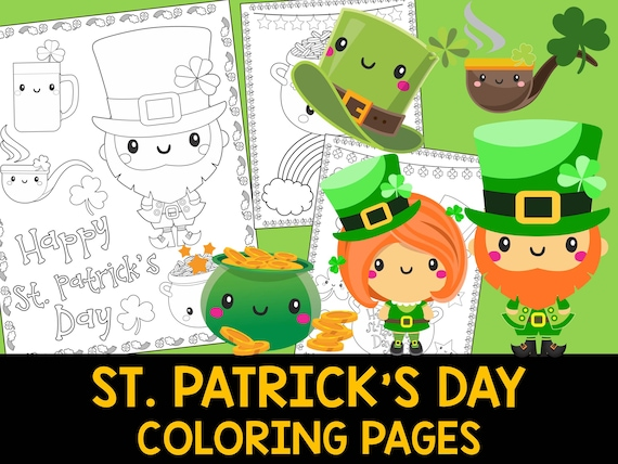 St. Patrick's Day Coloring Book Pages  The Crayon Crowd