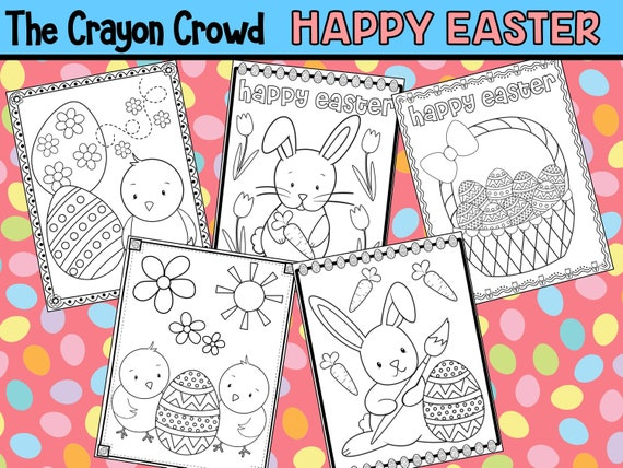 Happy Easter Coloring Pages  The Crayon Crowd party party