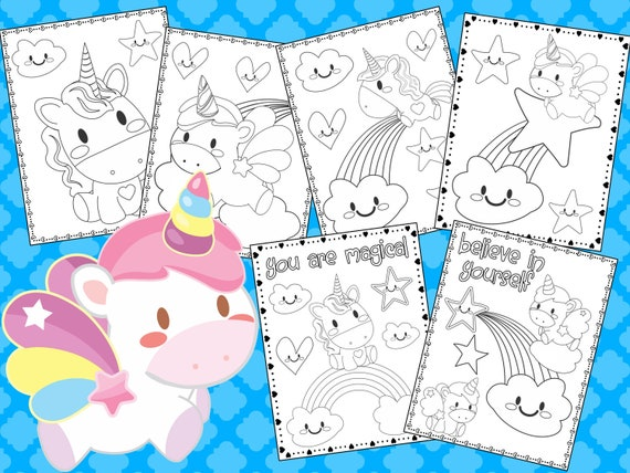 Cute Unicorn Coloring Pages The Crayon Crowd Unicorns Birthday Party Party Favors Coloring Book Sheets Kids Pdf