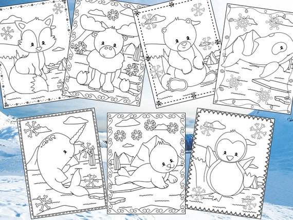 Arctic Friends Coloring Pages  The Crayon Crowd printable