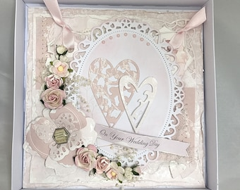 Shabby Chic Wedding Congratulations Card