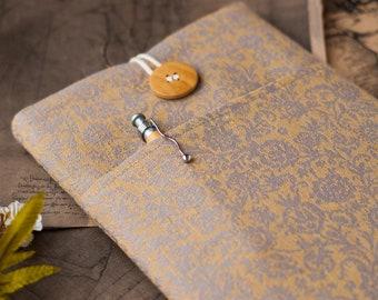 Vintage iPad Mini Case 2021, Gold iPad Mini Case 6, Handmade iPad Pro Cover, Padded iPad Air Sleeve
