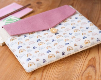 Rainbow Boho Laptop Case 14 inch, HP Laptop Cover, Cute Lenovo Yoga Laptop Pouch, Padded Dell Laptop Cover