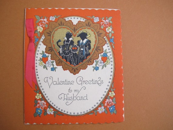 Antique valentines card to my husband victorian etsy image 0 m4hsunfo