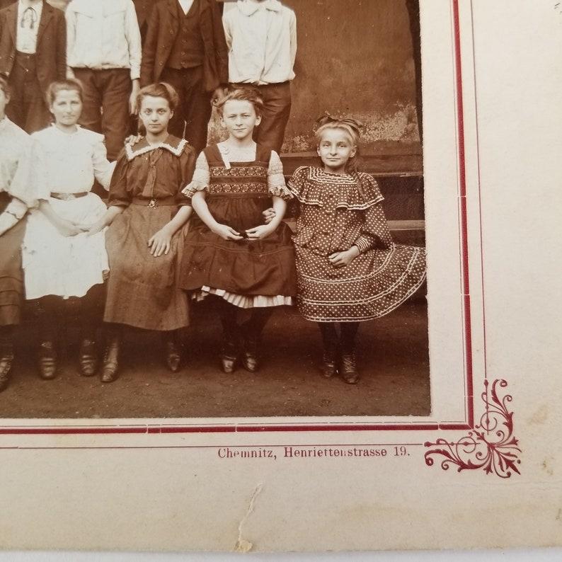 Jacobi photographer Chemnitz Henriettenstrasse 19 1907 Hohenstein Selecta I school photo  Antique class photo  J