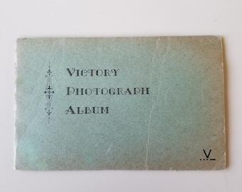 SALE Art Deco Victory Photograph Album / 4 page small photo album